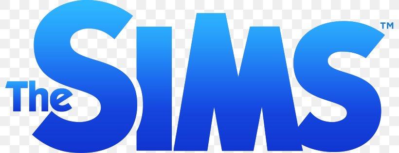 The Sims 4 Logo Font, PNG, 798x316px, Sims 4, Area, Blue.
