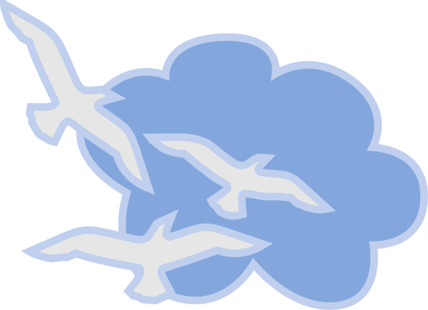Bird flying in the sky clipart.