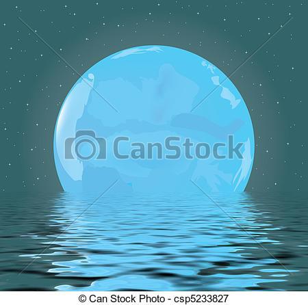 Stock Illustrations of night Moon.