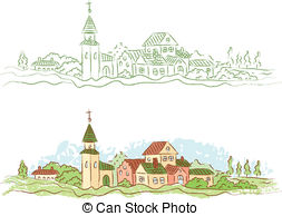 Country town Illustrations and Clip Art. 9,788 Country town.