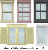 Window pane Clip Art Illustrations. 206 window pane clipart EPS.