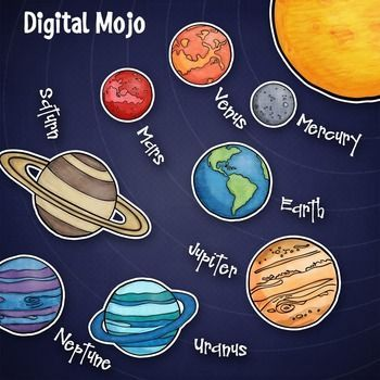 Solar System and Planet Clipart.
