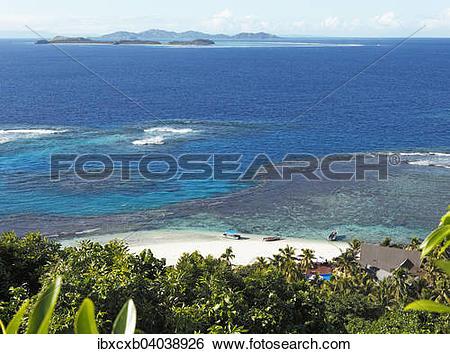 "Stock Images of ""Beach, the South Seas, Matamanoa Island, Mamanuca."