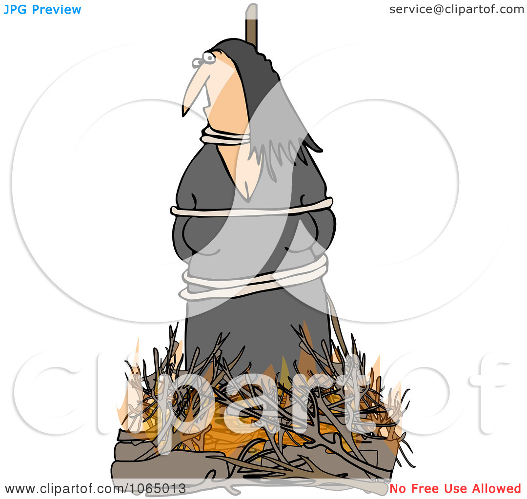 Clipart Witch Burning At The Stake.