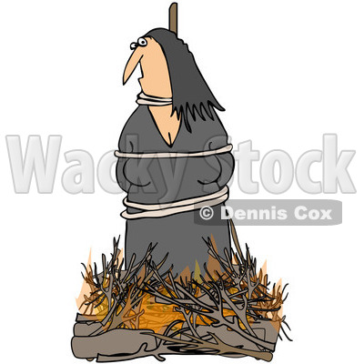 Witch Burning At The Stake.
