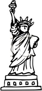 Statue of liberty clip art for kids.