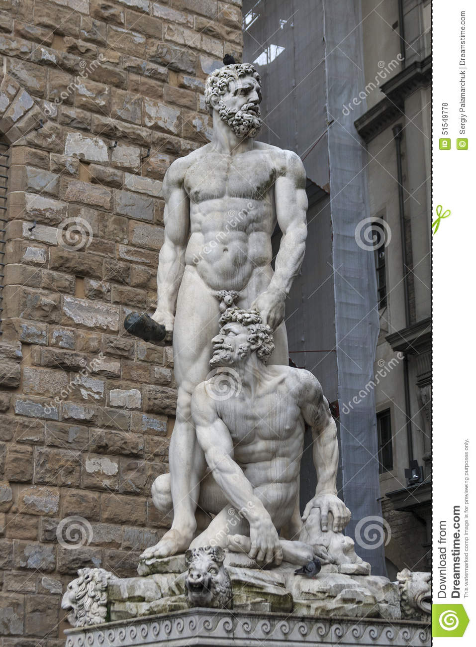 Hercules And Cacus Statue In Front Of Palazzo Vecchio, Florence.