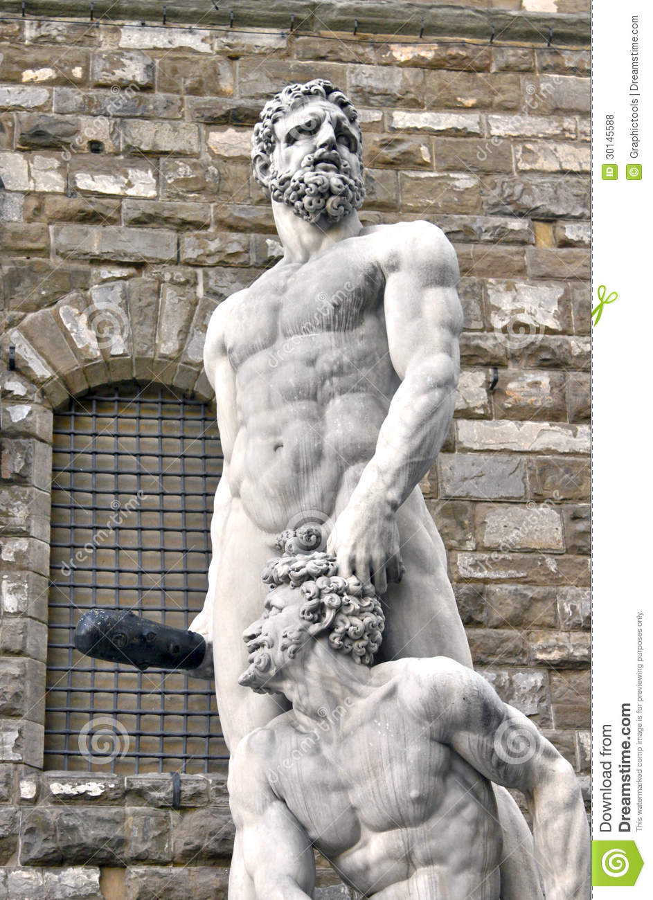 Hercules And Cacus In Florence. Italy Royalty Free Stock Photos.