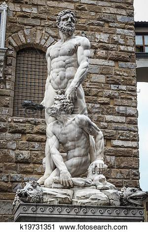 Stock Photography of Hercules and Cacus sculpture k19731351.