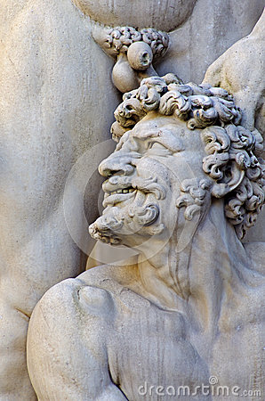 Detail From Statue Of Hercules And Cacus Stock Photo.
