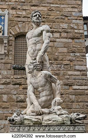 Stock Photo of Statue of Hercules and Cacus, Flore k22094392.