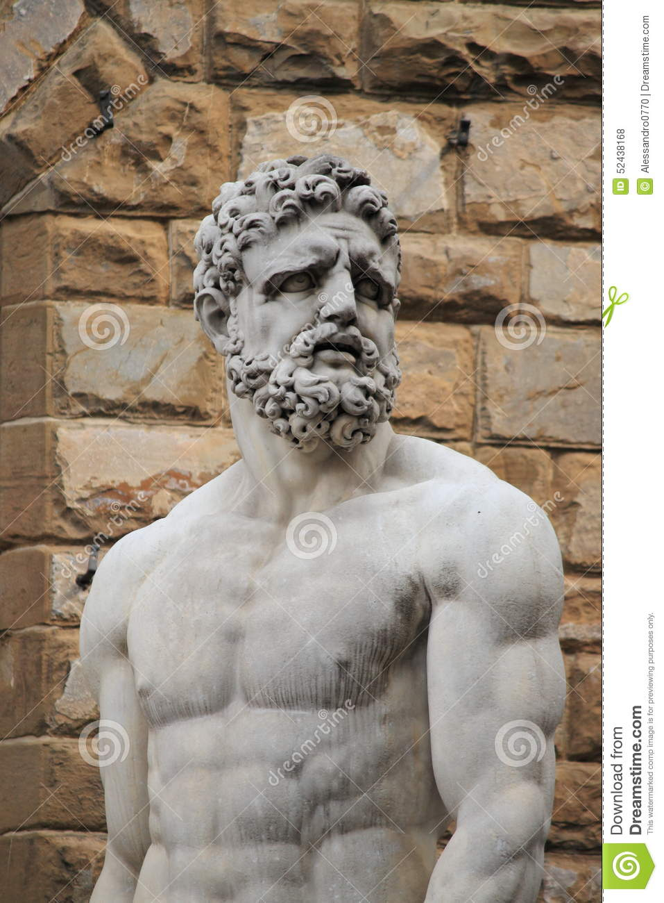 Statue Of Hercules And Caucus Stock Photo.