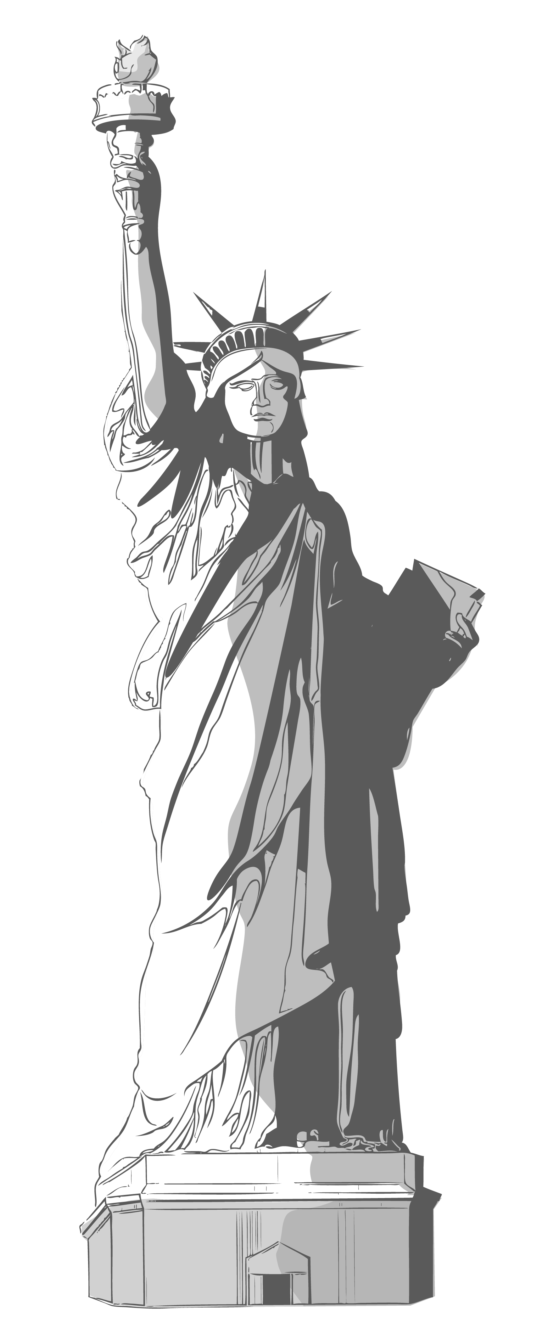 Statue of liberty clipart 2.