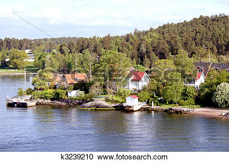 Stock Photography of Landscape on Stockholm archipelago k3239210.