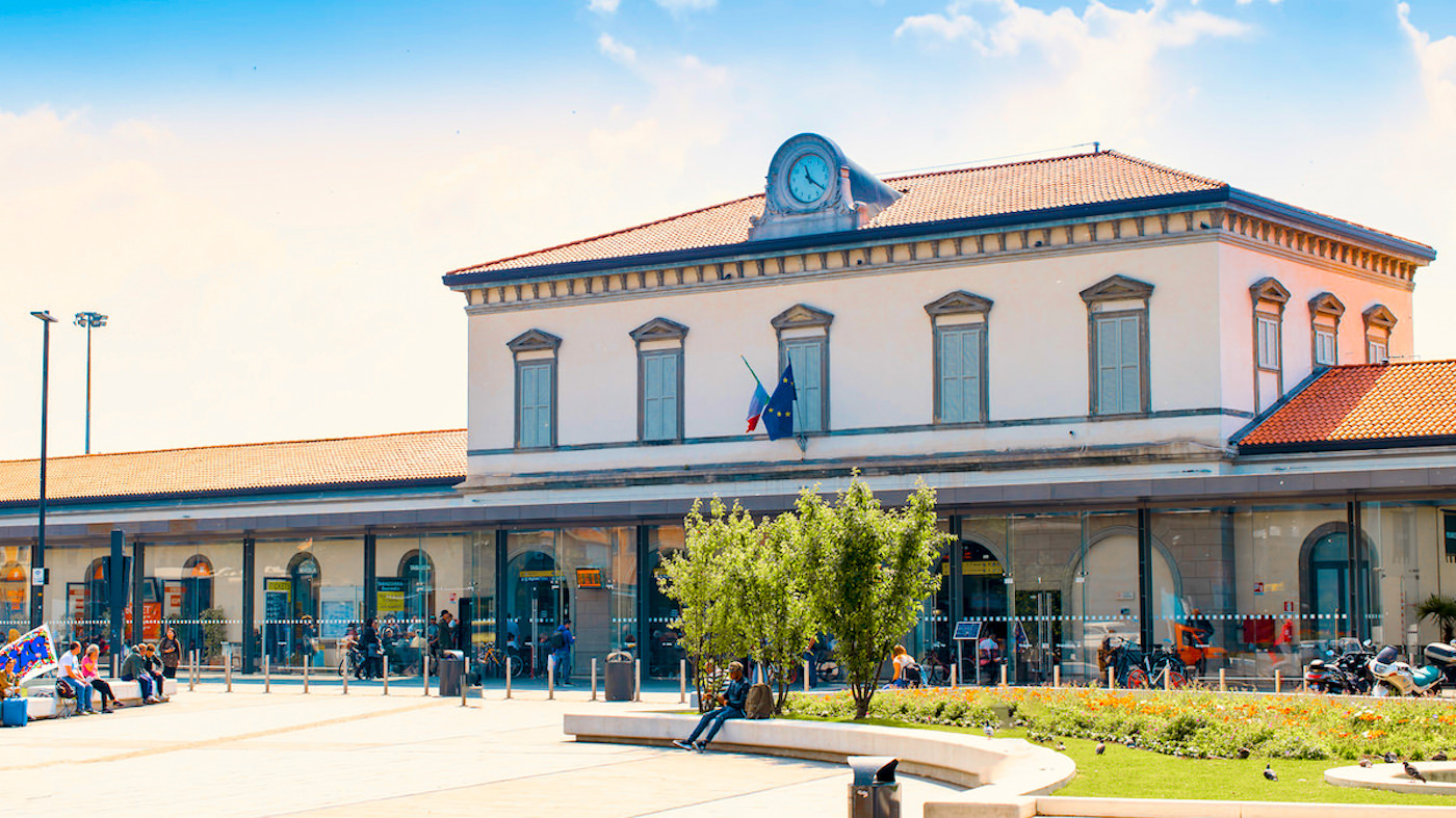 Bergamo Airport Train Station.