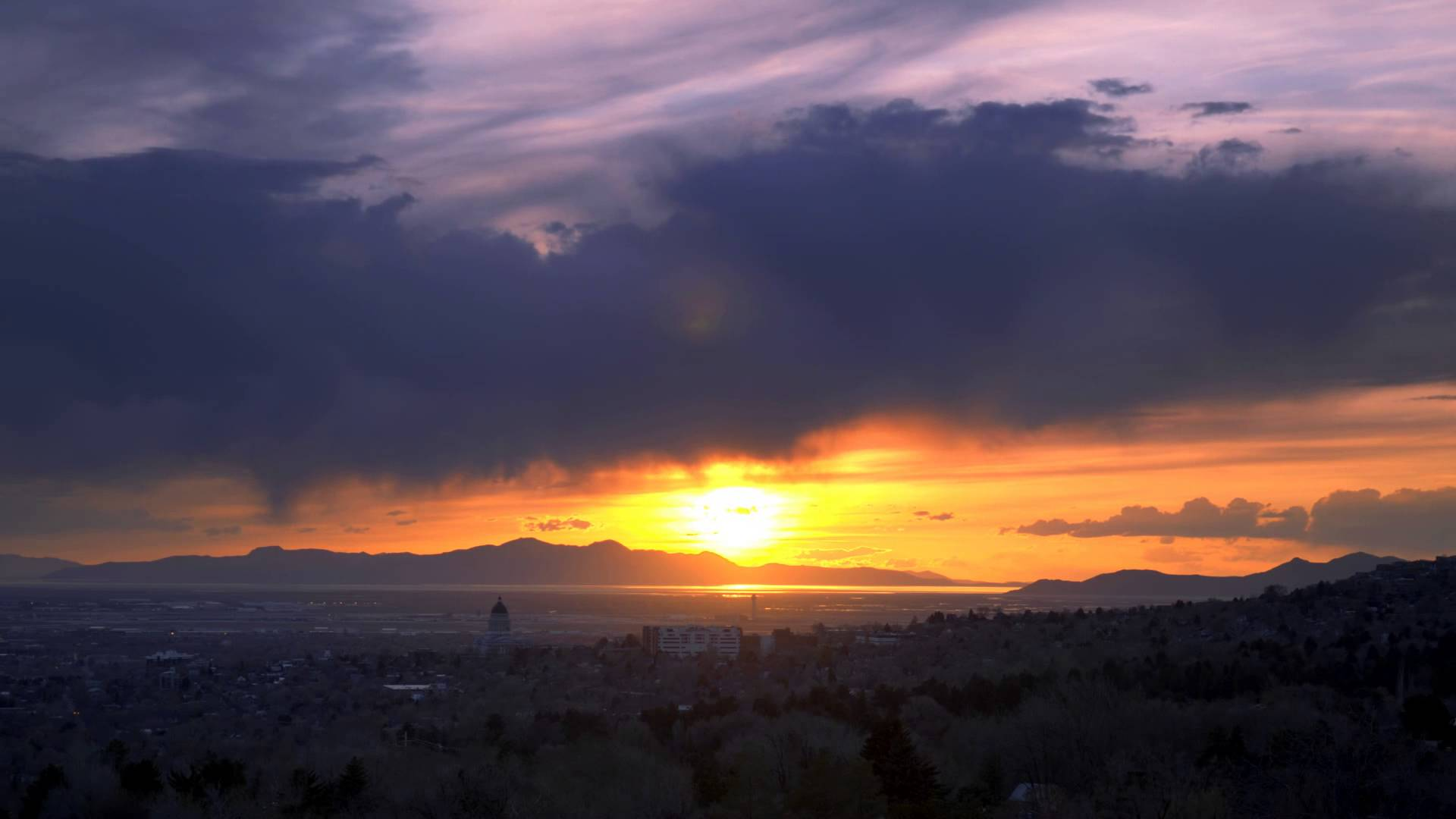 Time Lapse Sunset HD Video 1080p Footage Views of Setting Sun.