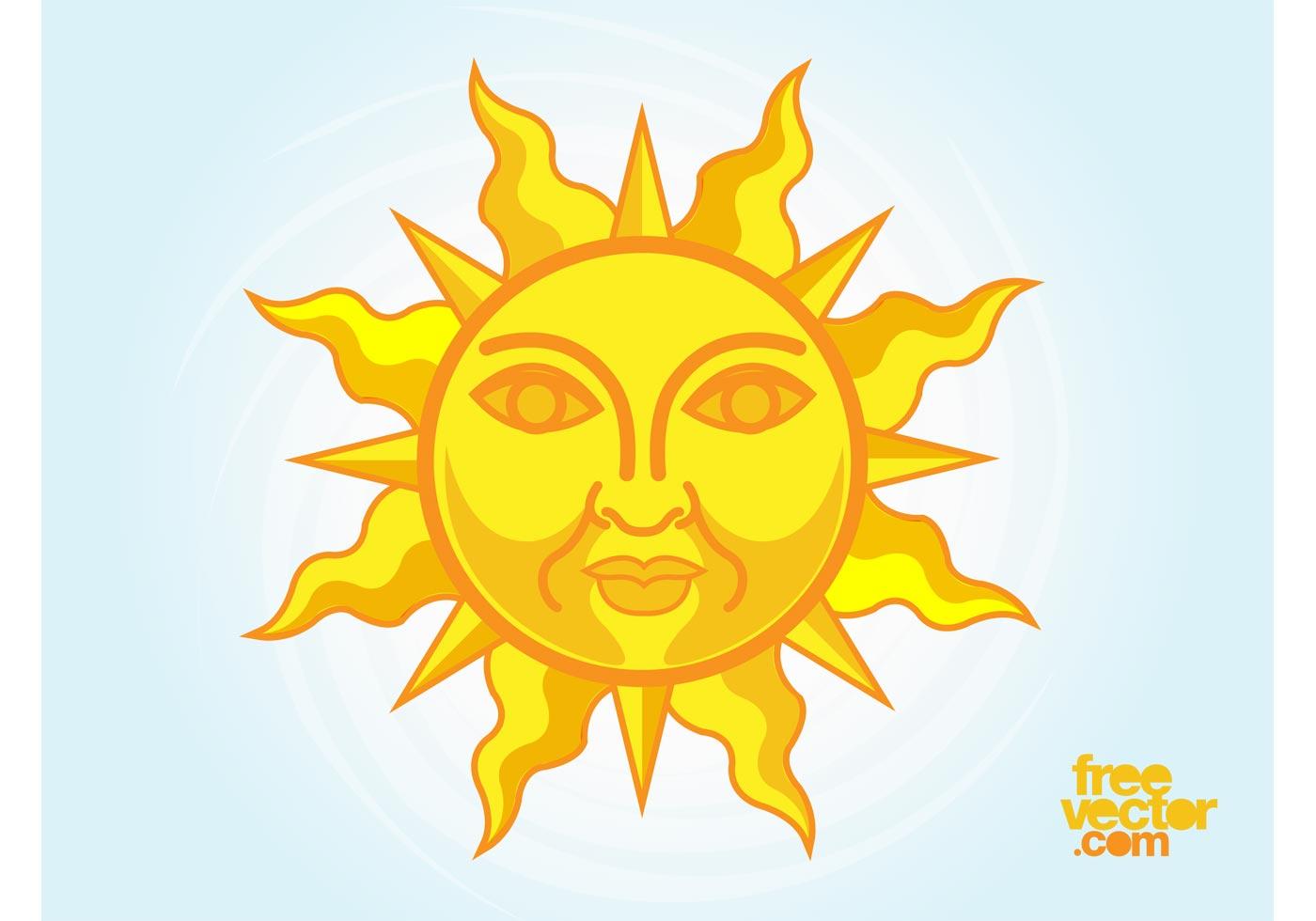 Sun Rays Free Vector Art.