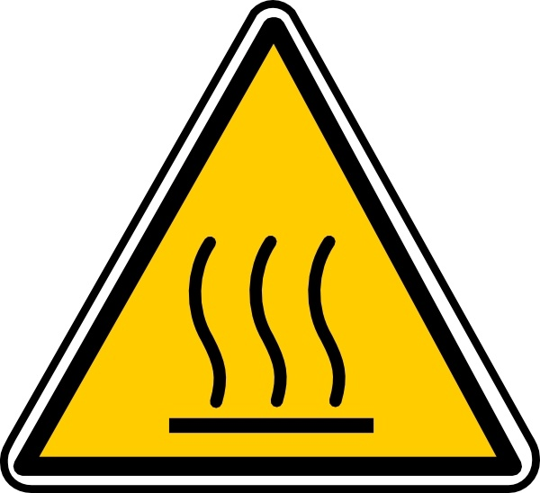 Hot Surface Danger clip art Free vector in Open office drawing svg.