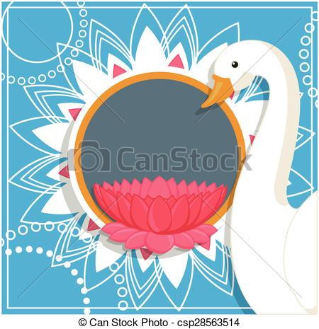 Vector Clip Art of Indian Style Lotus Frame.