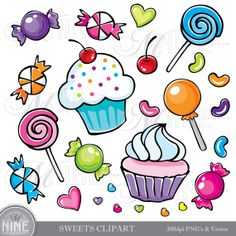 CANDY Clip Art: Clipart Vector Art File, Instant Download.