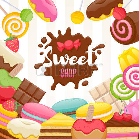 16,338 Sweet Shop Stock Vector Illustration And Royalty Free Sweet.