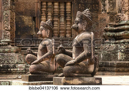 Stock Images of Yaksha Guardian, guardian figures in front of the.