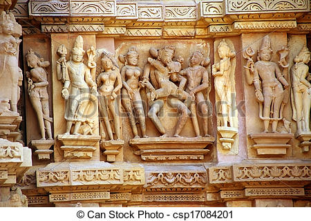 Stock Photography of Group Sex Figures in Kama Sutra Temples in.