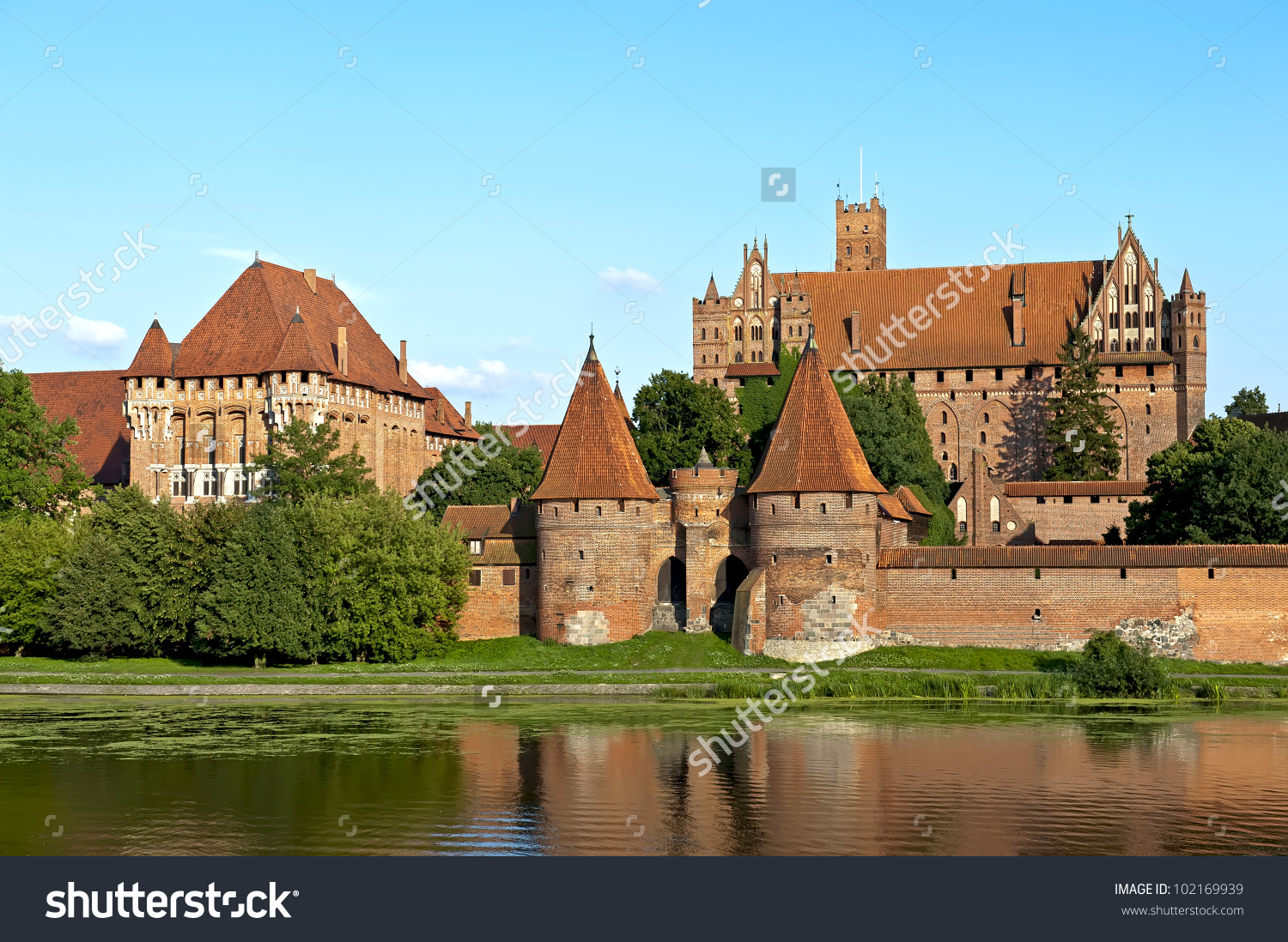 Teutonic Knights Fortress Malbork Poland Stock Photo 102169939.