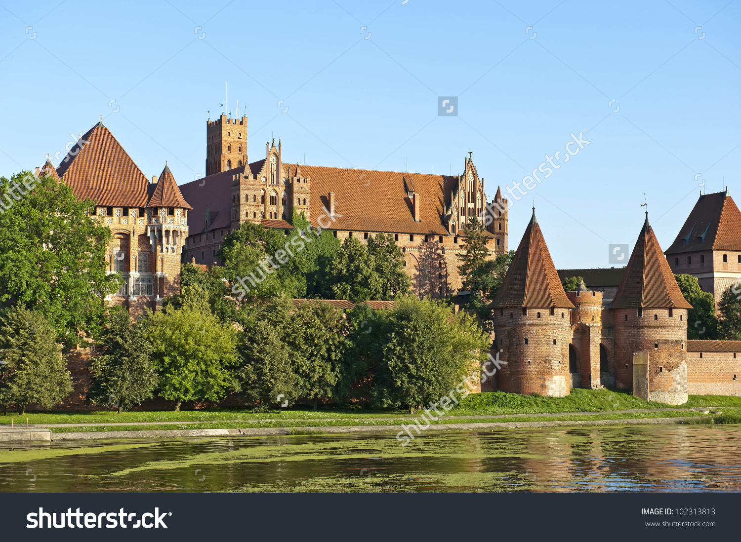 Teutonic Knights' Fortress In Malbork, Also Known As Marienburg.