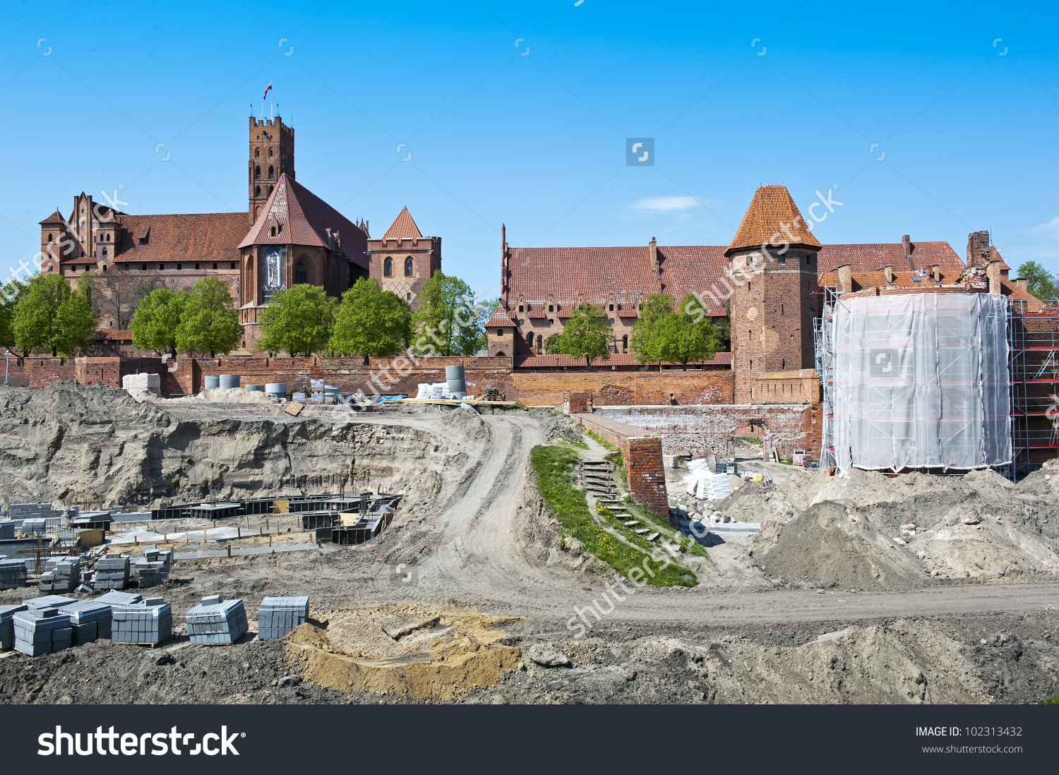 Reconstruction Of The Medieval Teutonic Knights' Fortress In.