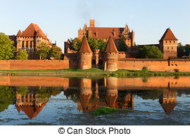Stock Photography of Malbork castle, Teutonic Knights' fortress.