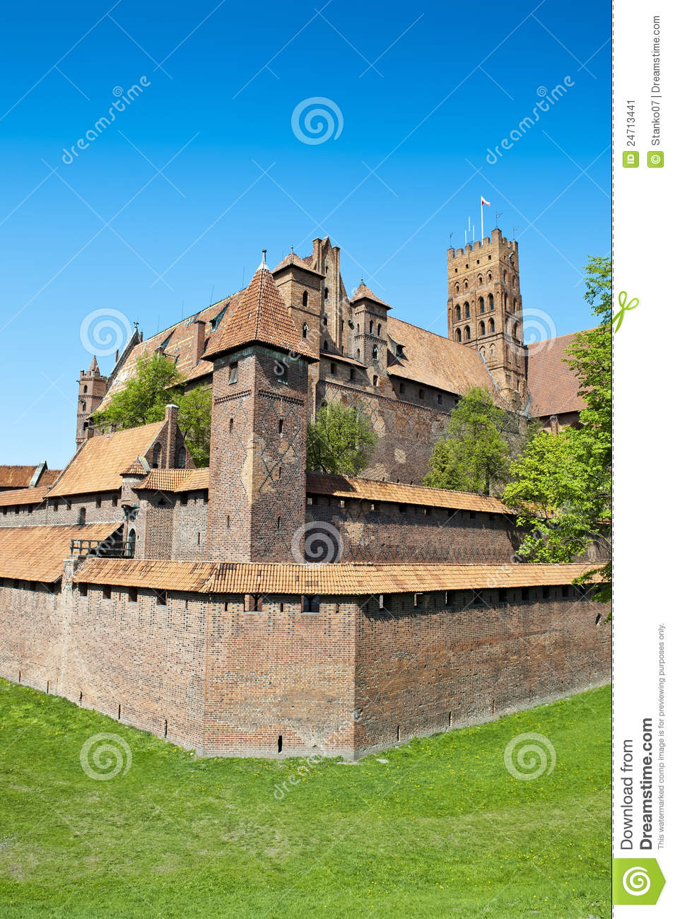 Teutonic Knights' Fortress Stock Image.