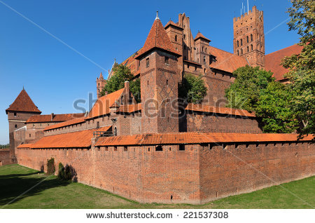 Malbork Castle Teutonic Knights Fortress Known Stock Photo.