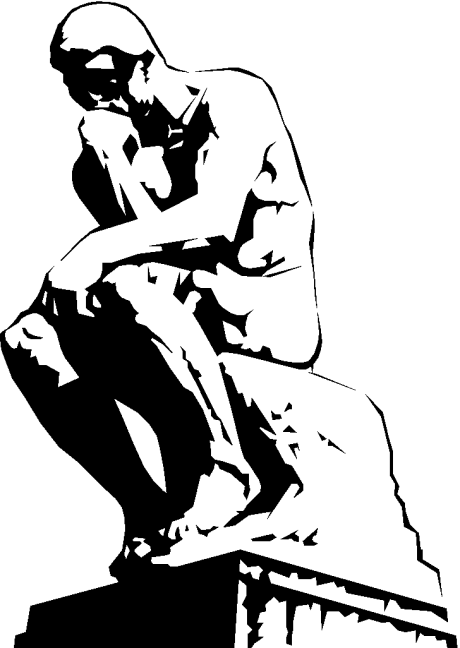 Thinker Clipart.