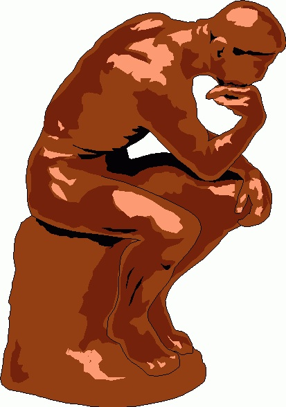 The Thinker Clipart.