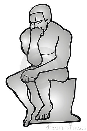 The Thinker Statue Clipart.