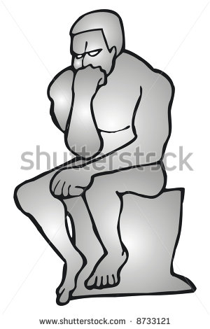 The Thinker Stock Vector.