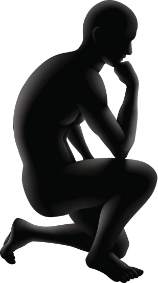 The thinker clipart