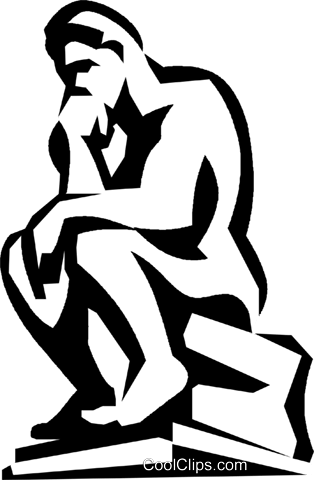thinker Royalty Free Vector Clip Art illustration.