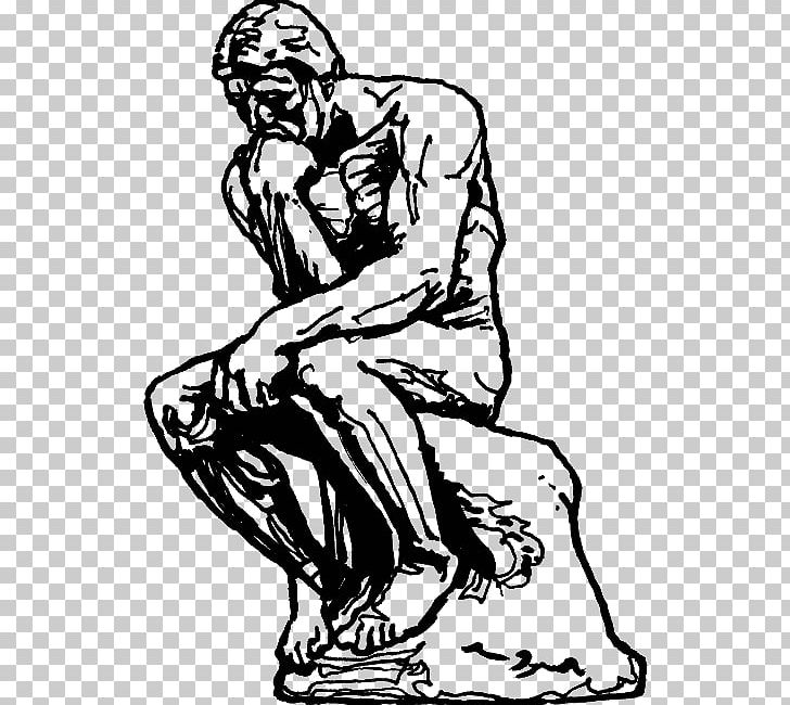 The Thinker Sculpture Drawing Masterpiece PNG, Clipart, Arm.