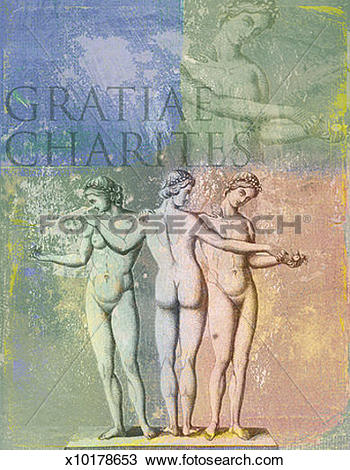 Drawing of The Three Graces x10178653.