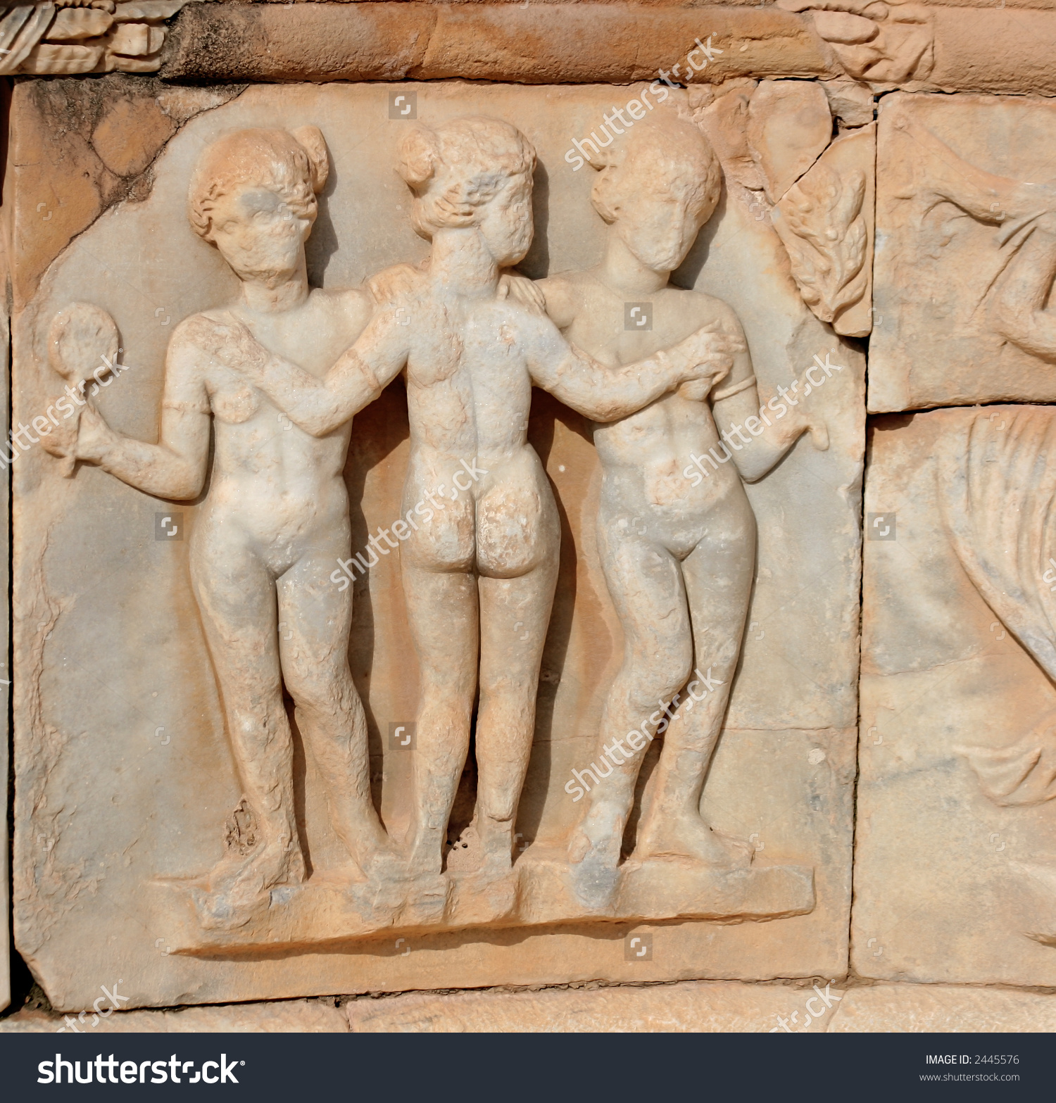 The Three Graces, Sabratha, Libya Stock Photo 2445576 : Shutterstock.