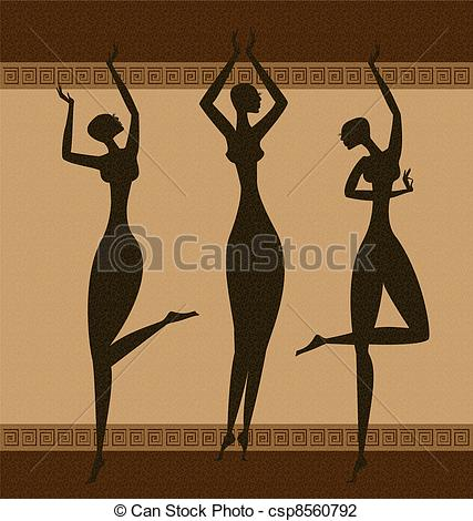 Vector Illustration of three Graces.