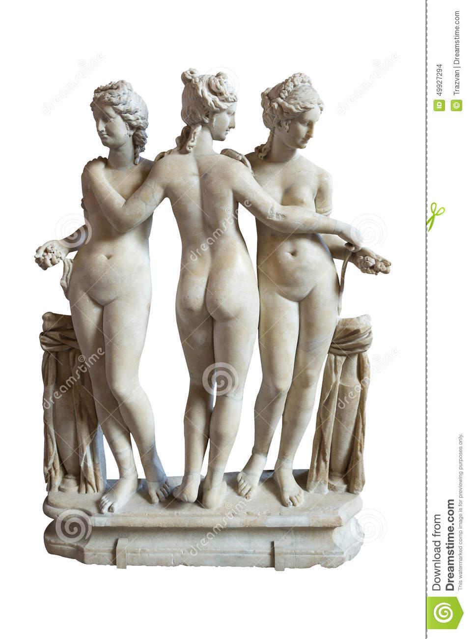 The Three Graces Sculpture.