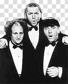 The Three Stooges transparent background PNG clipart.