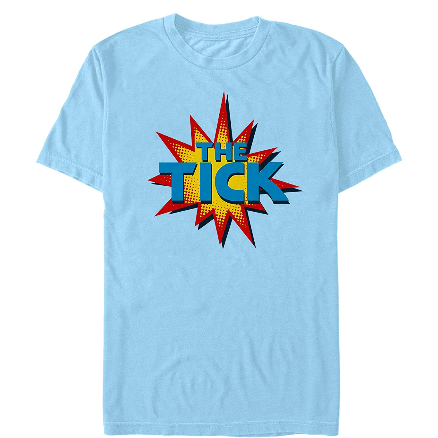 Amazon.com: Fifth Sun The Tick Men\'s Retro Comic Book Logo T.