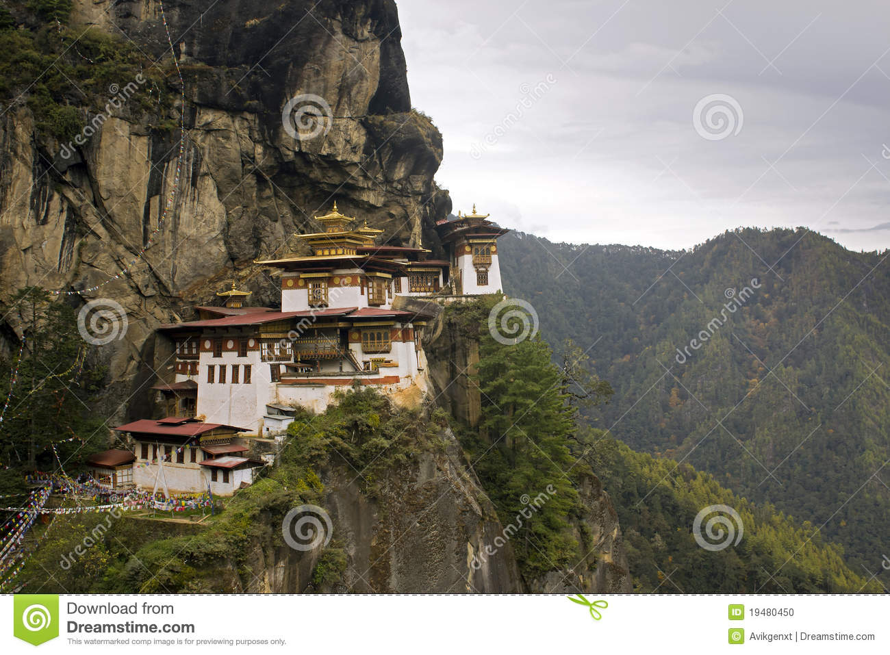 Taktshang Goemba(Tigers Nest Monastery), Bhutan Royalty Free Stock.