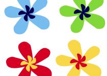 Clip Art: Small Flower Clip Art.