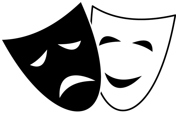 Comedy and Tragedy Symbol Clip Art.