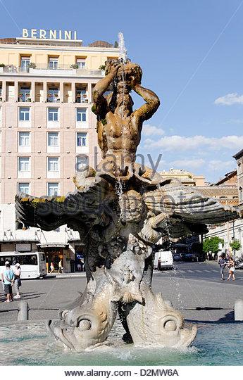 Triton Fountain Gian Lorenzo Bernini Stock Photos & Triton.